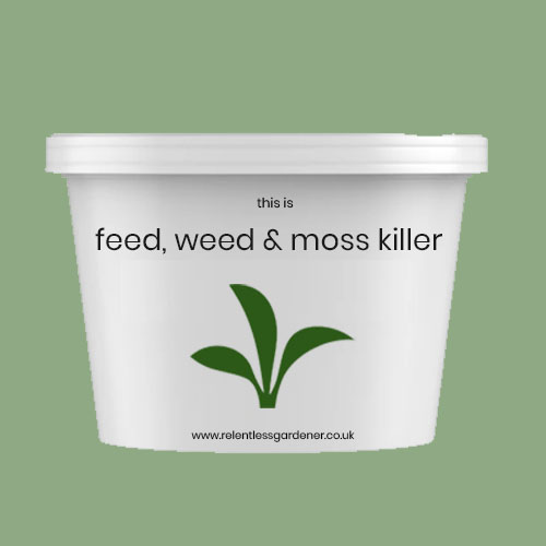 Lawn Feed, Weed & Moss Killer Tub Fertiliser UK