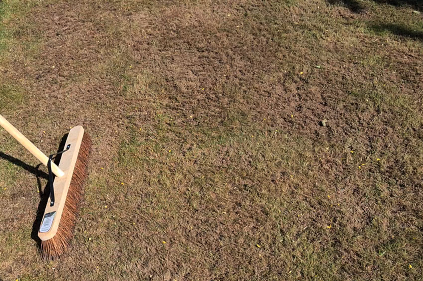 How to level a bumpy lawn sand top soil mix by hand